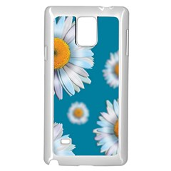 Floating Daisies Samsung Galaxy Note 4 Case (White)