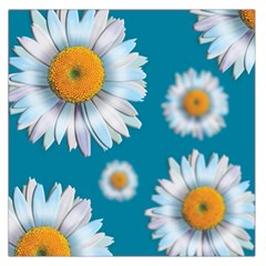 Floating Daisies Large Satin Scarf (Square)