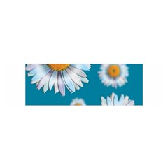 Floating Daisies Satin Scarf (Oblong)