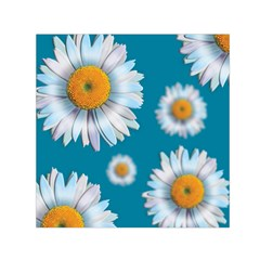 Floating Daisies Small Satin Scarf (Square)
