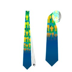 People Planet  Neckties (Two Side)