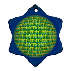 People Planet  Snowflake Ornament (2 Side)
