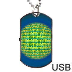 People Planet  Dog Tag USB Flash (Two Sides)