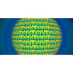 People Planet  YOU ARE INVITED 3D Greeting Card (8x4)