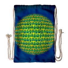 People Planet  Drawstring Bag (Large)