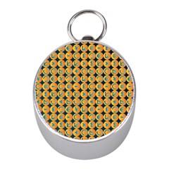 Symbols Pattern Mini Silver Compasses
