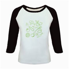 Green Vegetables Kids Baseball Jerseys