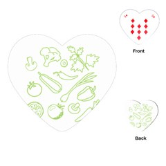 Green Vegetables Playing Cards (heart)