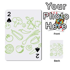 Green Vegetables Playing Cards 54 Designs