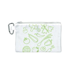 Green Vegetables Canvas Cosmetic Bag (S)