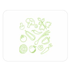 Green Vegetables Double Sided Flano Blanket (large)