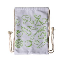 Green Vegetables Drawstring Bag (Small)