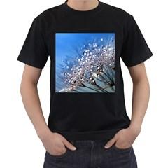 Dandelion 2015 0703 Men s T Shirt (black) (two Sided)