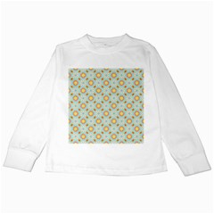 Cute Seamless Tile Pattern Gifts Kids Long Sleeve T Shirts