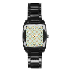 Cute Seamless Tile Pattern Gifts Stainless Steel Barrel Watch