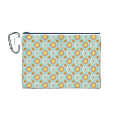 Cute Seamless Tile Pattern Gifts Canvas Cosmetic Bag (m)