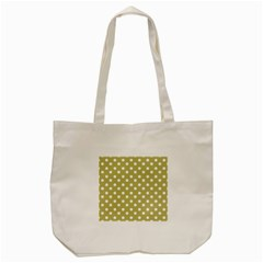 Lime Green Polka Dots Tote Bag (Cream)