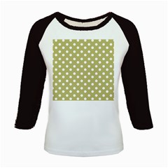 Lime Green Polka Dots Kids Baseball Jerseys