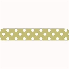 Lime Green Polka Dots Small Bar Mats