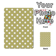 Lime Green Polka Dots Multi-purpose Cards (Rectangle)