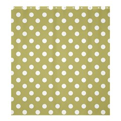 Lime Green Polka Dots Shower Curtain 66  x 72  (Large)