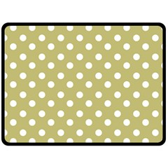Lime Green Polka Dots Fleece Blanket (large)
