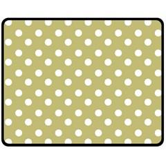 Lime Green Polka Dots Fleece Blanket (Medium)