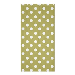 Lime Green Polka Dots Shower Curtain 36  x 72  (Stall)