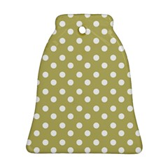 Lime Green Polka Dots Bell Ornament (2 Sides)