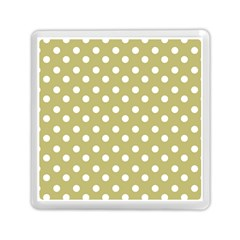 Lime Green Polka Dots Memory Card Reader (Square)