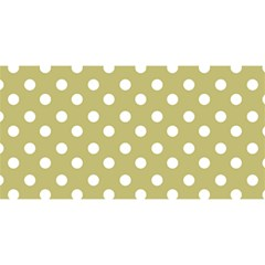 Lime Green Polka Dots You Are Invited 3d Greeting Card (8x4)