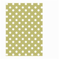 Lime Green Polka Dots Small Garden Flag (Two Sides)