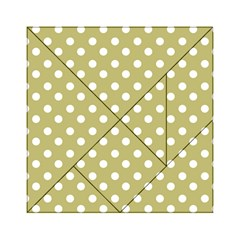 Lime Green Polka Dots Acrylic Tangram Puzzle (6  x 6 )