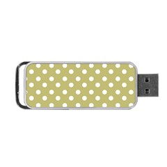 Lime Green Polka Dots Portable USB Flash (Two Sides)