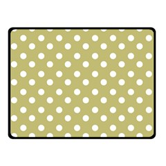 Lime Green Polka Dots Double Sided Fleece Blanket (Small)
