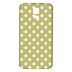 Lime Green Polka Dots Samsung Galaxy S5 Back Case (white)