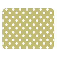 Lime Green Polka Dots Double Sided Flano Blanket (Large)