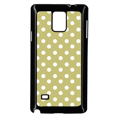 Lime Green Polka Dots Samsung Galaxy Note 4 Case (black)
