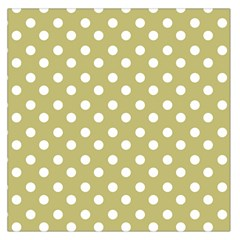 Lime Green Polka Dots Large Satin Scarf (Square)