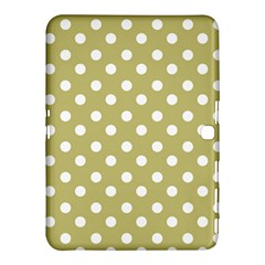 Lime Green Polka Dots Samsung Galaxy Tab 4 (10.1 ) Hardshell Case