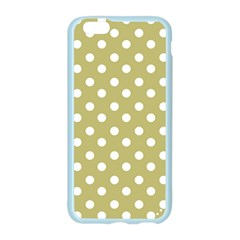 Lime Green Polka Dots Apple Seamless iPhone 6 Case (Color)