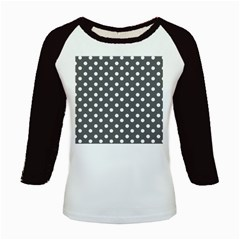 Gray Polka Dots Kids Baseball Jerseys