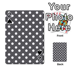 Gray Polka Dots Playing Cards 54 Designs