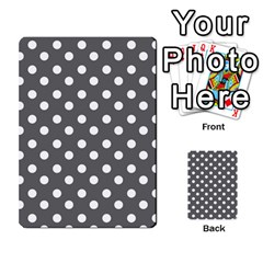 Gray Polka Dots Multi-purpose Cards (Rectangle)