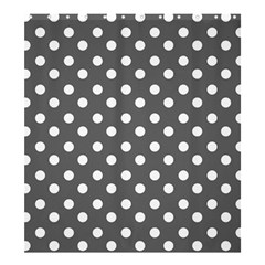 Gray Polka Dots Shower Curtain 66  x 72  (Large)