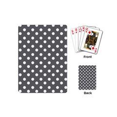 Gray Polka Dots Playing Cards (mini)
