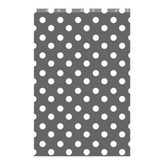 Gray Polka Dots Shower Curtain 48  x 72  (Small)