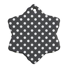 Gray Polka Dots Ornament (Snowflake)