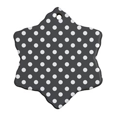 Gray Polka Dots Snowflake Ornament (2-Side)