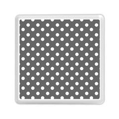 Gray Polka Dots Memory Card Reader (Square)